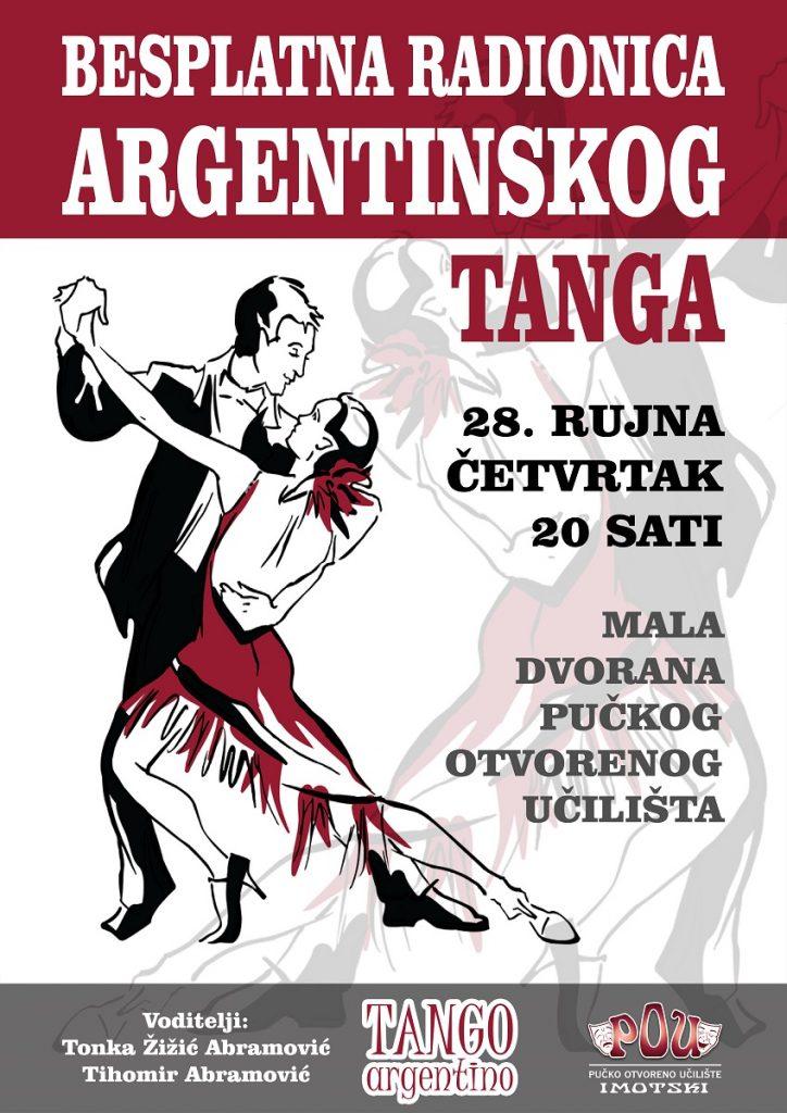 POU Imotski organizira besplatnu radionicu argentinskog tanga