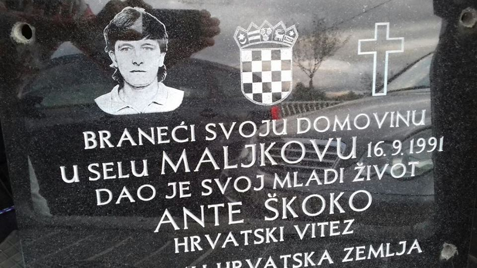 Premješta se ploča poginulog branitelja Ante Škoke
