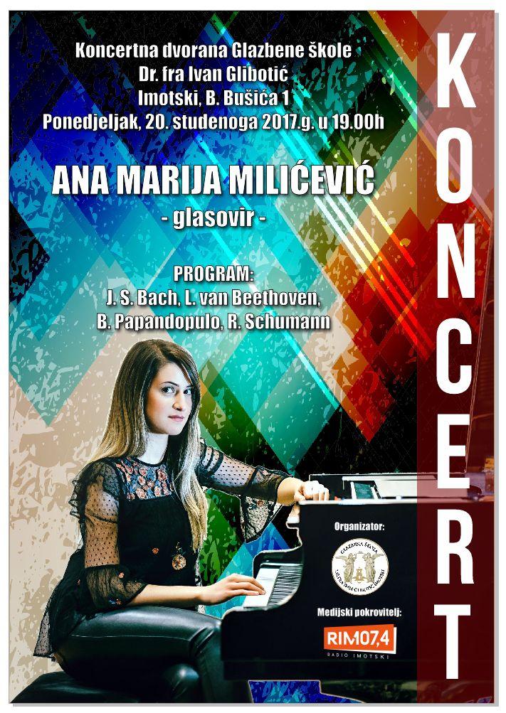 Perspektivna Posušanka Ana Marija Miličević nastupa u Imotskom