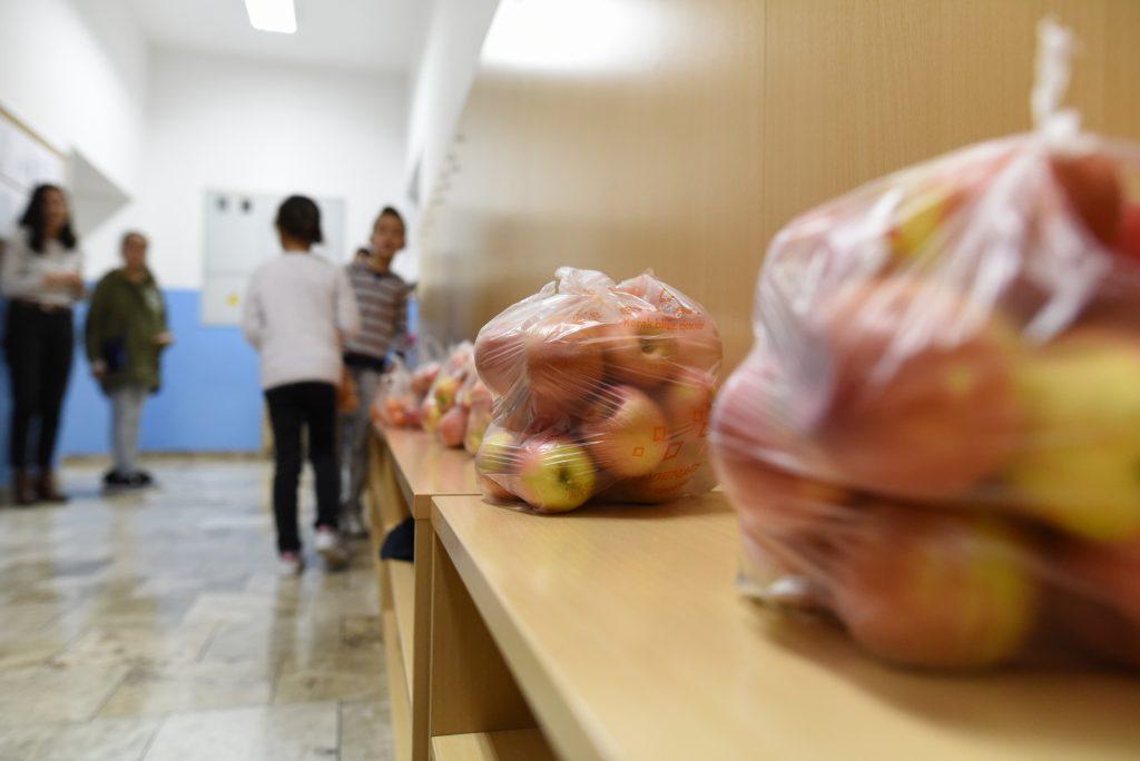 FOTO: Učenici Osnovne škole Josip Vergilij Perić dobili prve paketiće voća