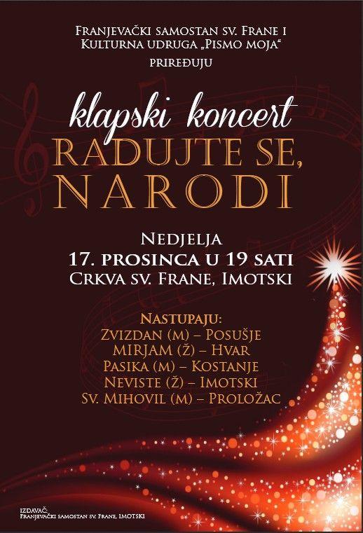 """Klapski koncert """"Radujte se narodi"""""""