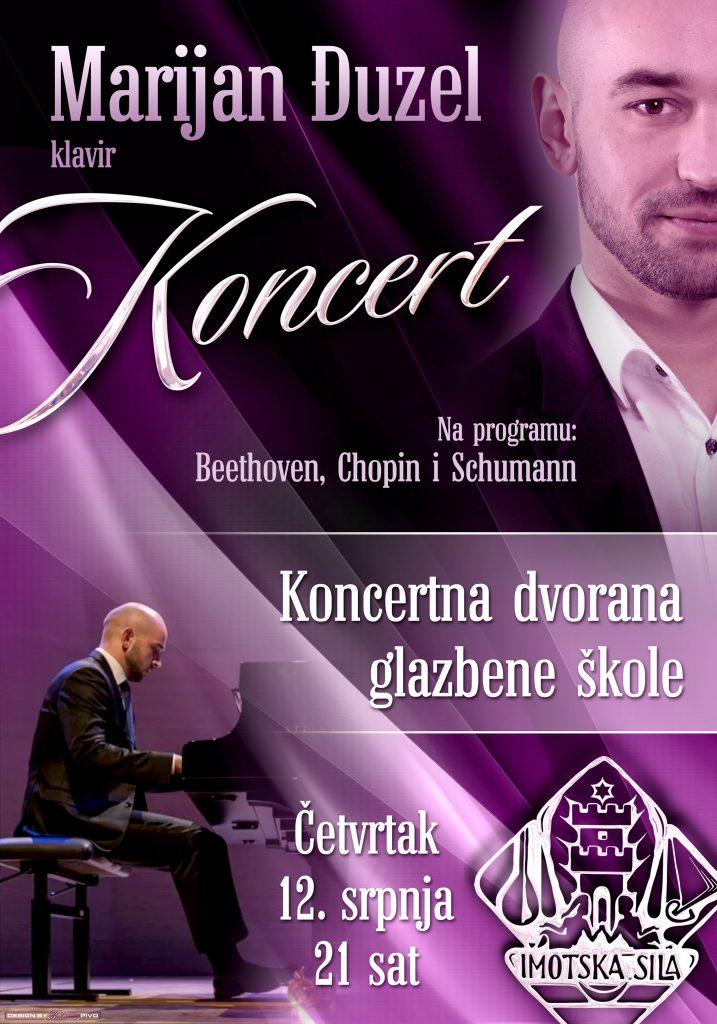 Glasovirski koncert Imoćanina Marijana Đuzela