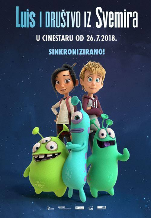 "Kino Mediteran – u subotu animirani film ""Luis i društvo iz svemira"""
