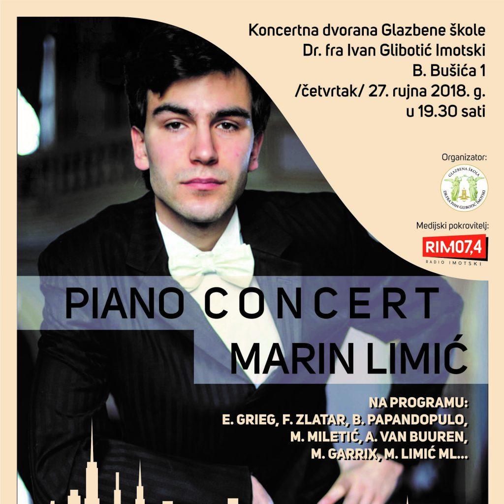 Piano koncert mladog glazbenika Marina Limića