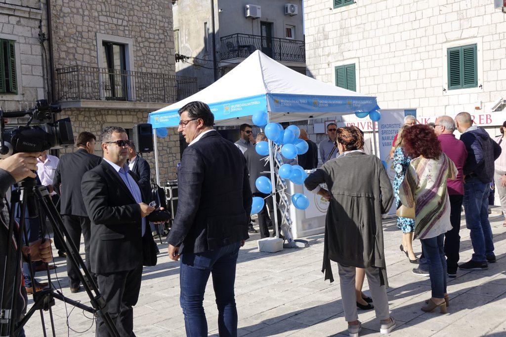 Predstavljanje programa Splitsko – dalmatinske županije na središnjem imotskom trgu