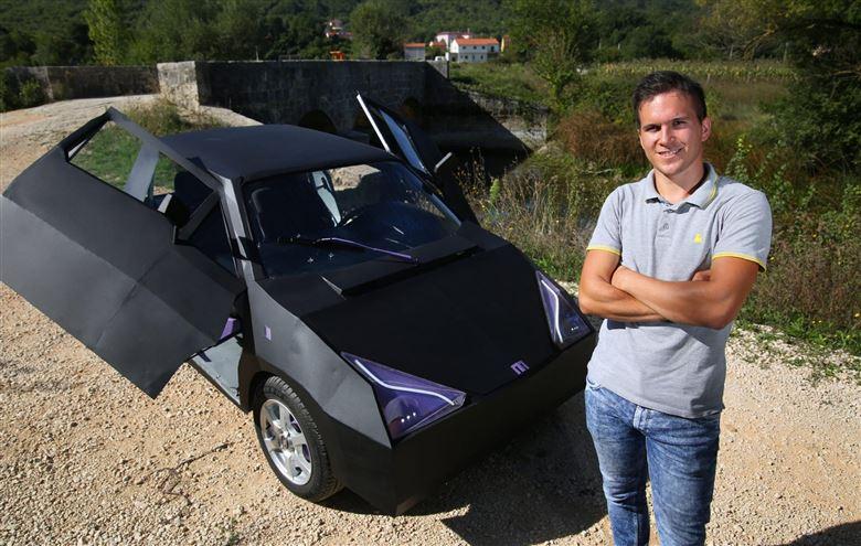 Mladi inovator Mario Ljubičić predstavit će u Zagrebu svoj prvi električni automobil