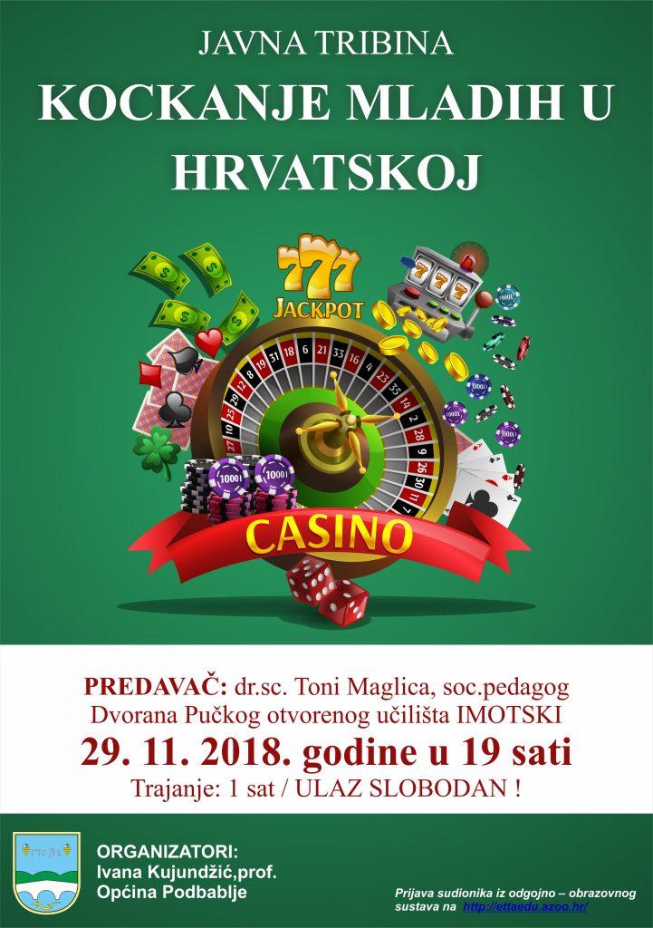 Javna tribina na temu kockanja mladih u Hrvatskoj