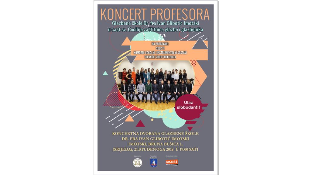 Koncert profesora Glazbene škole Dr. fra Ivan Glibotić