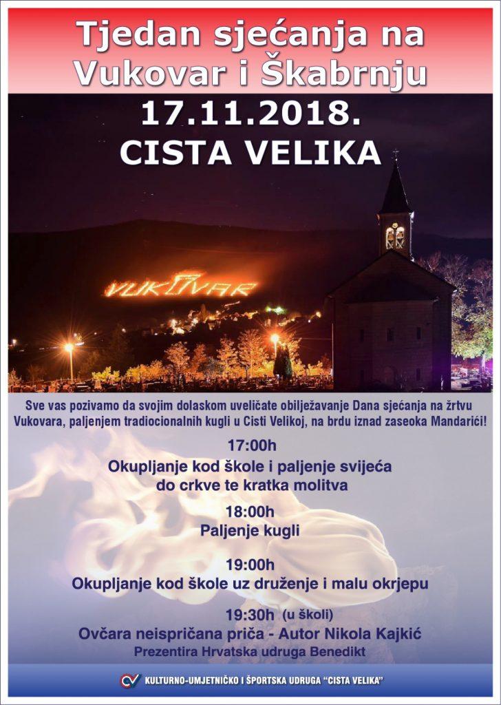 Cista Velika – Dan sjećanja na žrtve Vukovara