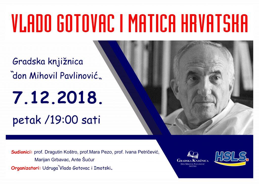 """Večer sjećanja na Vladu Gotovca """"VLADO I MATICA HRVATSKA"""""""
