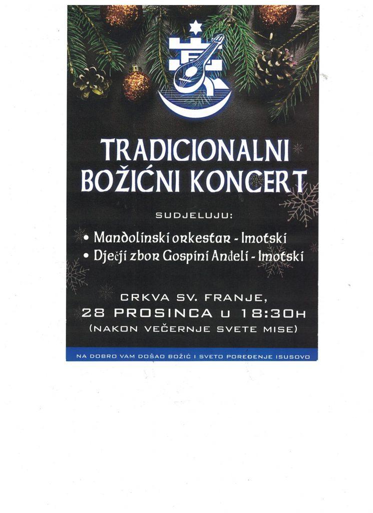 Tradicionalni Božićni koncert u u crkvi sv. Franje u Imotskom