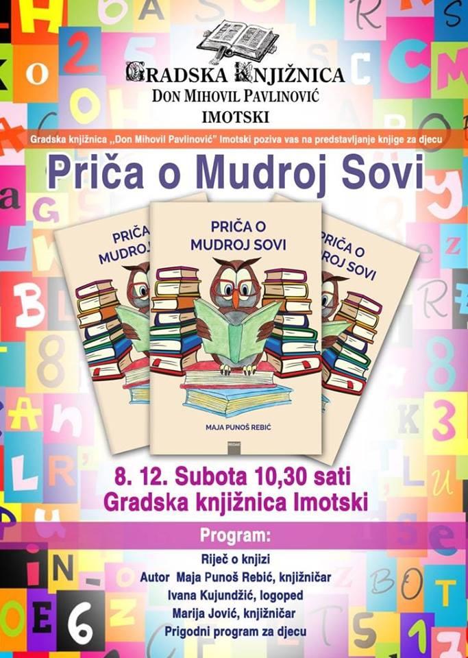 """Predstavljanje slikovnice za djecu,,Priča o Mudroj sovi"""" autorice Maje Punoš Rebić"""