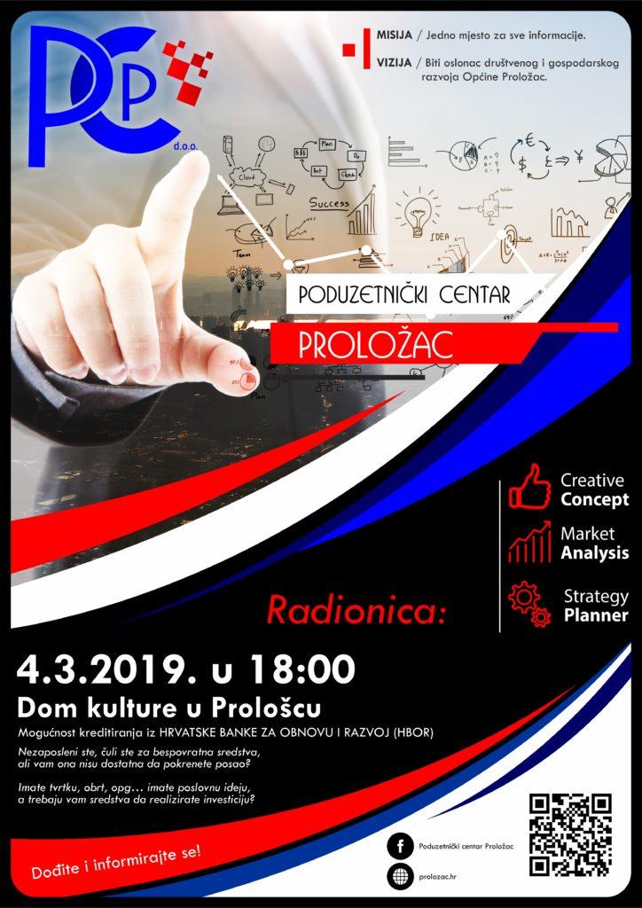 Poduzetnički centar Proložac poziva na radionicu