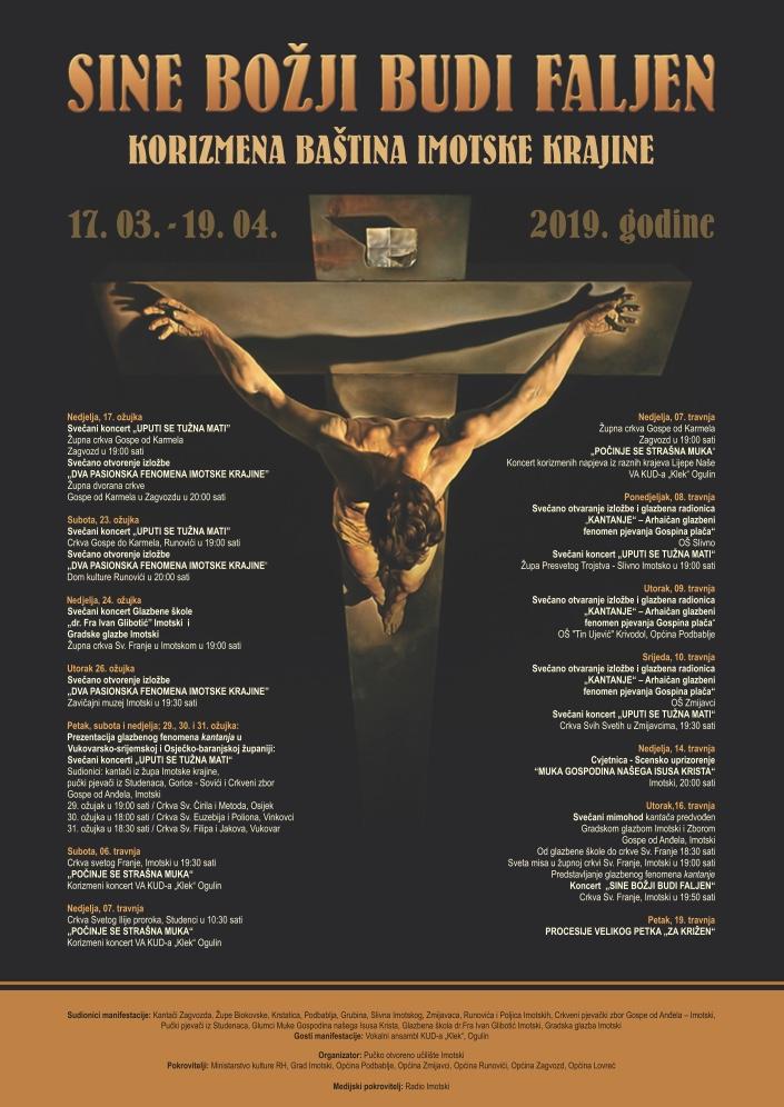 """Koncert """"Uputi se tužna mati"""" te izložba """"Dva pasionske fenomena Imotske krajine"""" sutra u Zagvozdu"""