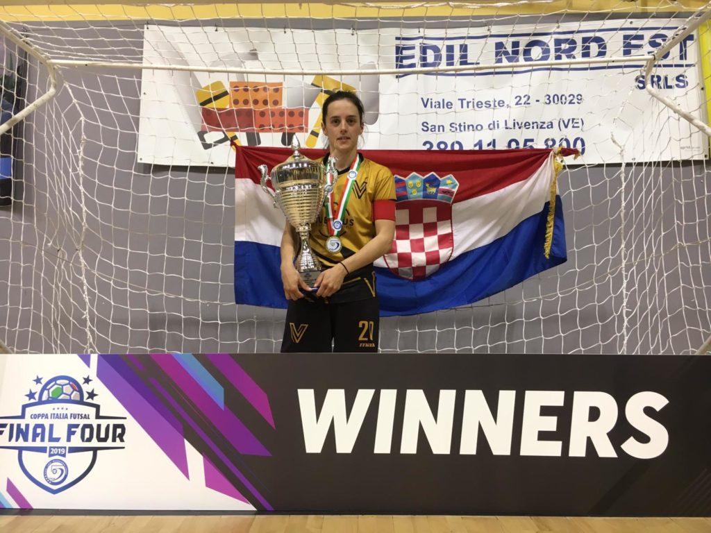 Imoćanka Sandra Brkan osvojila futsal kup Italije