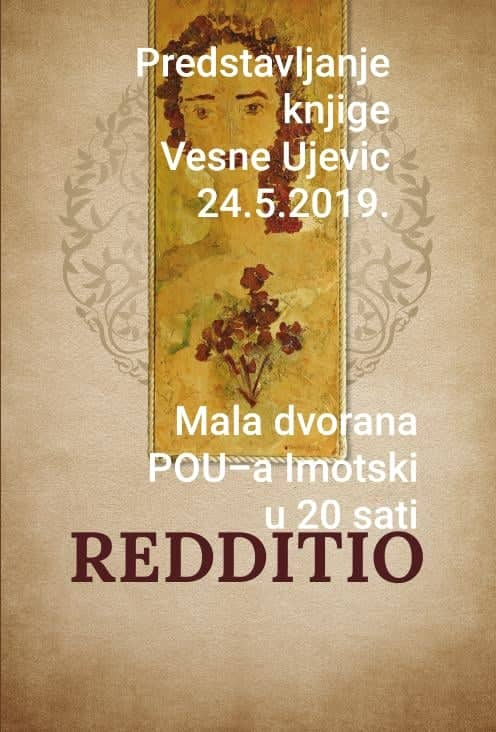 """Predstavljanje knjige Vesne Ujević """"Redditio"""""""