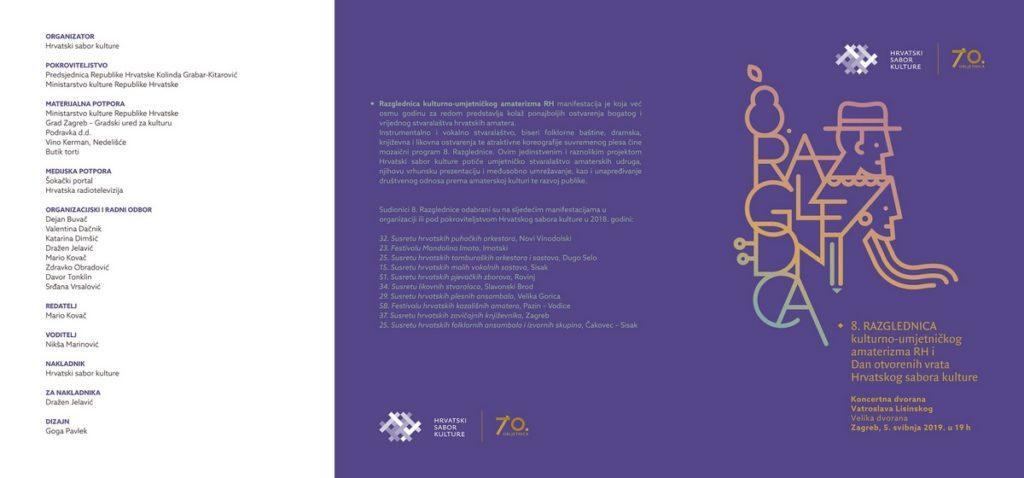 Mandolinski orkestar Imotski nastupa na 8. Razglednici kulturno-umjetničkog amaterizma RH