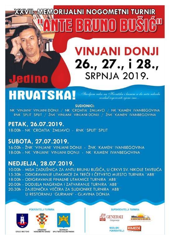 "Započeo 27. Memorijalni nogometni turnir ""Ante Bruno Bušić"""
