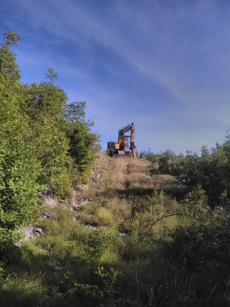 Radovi na izgradnji biciklističke staze Gornje Bakote – Vranješi