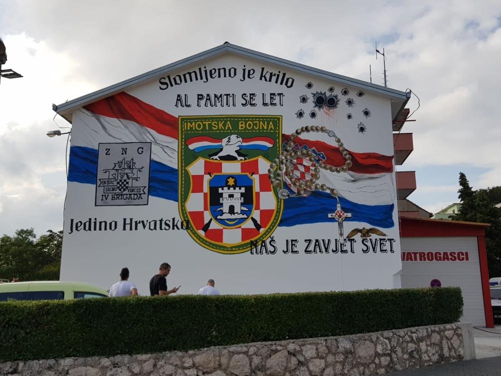 Legendarna postrojba dobila mural u Imotskom