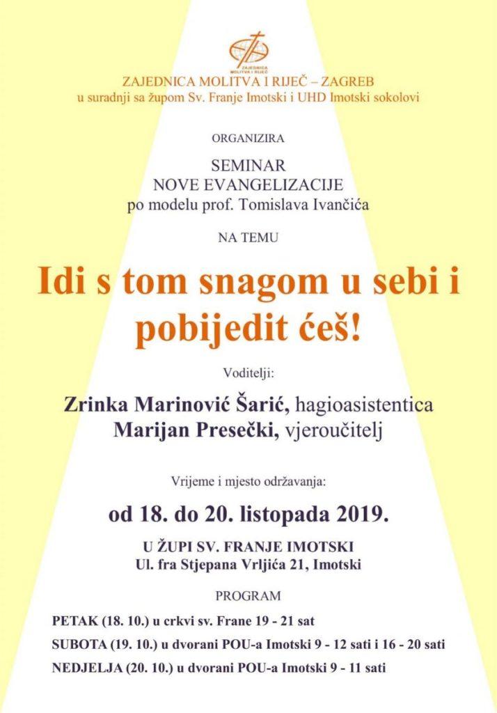 Seminar nove evangelizacije u Imotskom