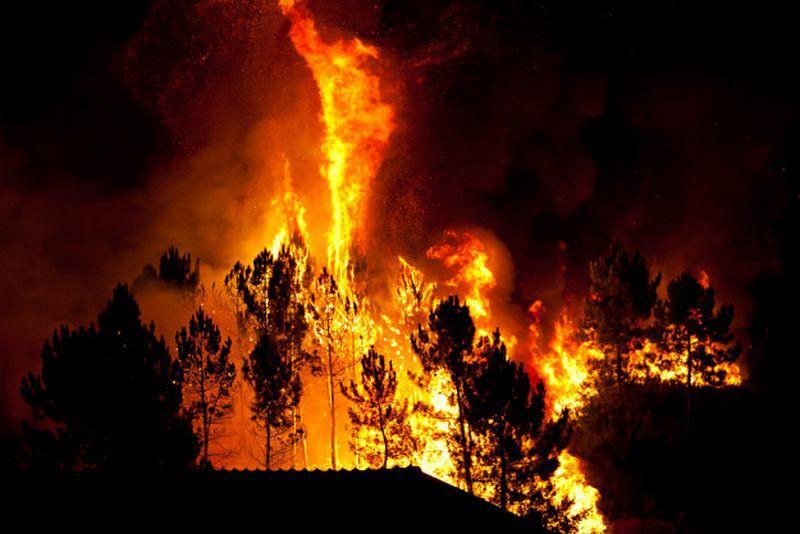 Imoćane uznemirio požar na obližnjoj planini