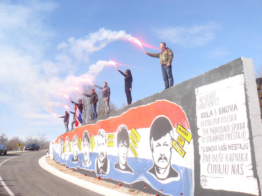 Veliki mural u čast sedmorici zabiokovskih junaka