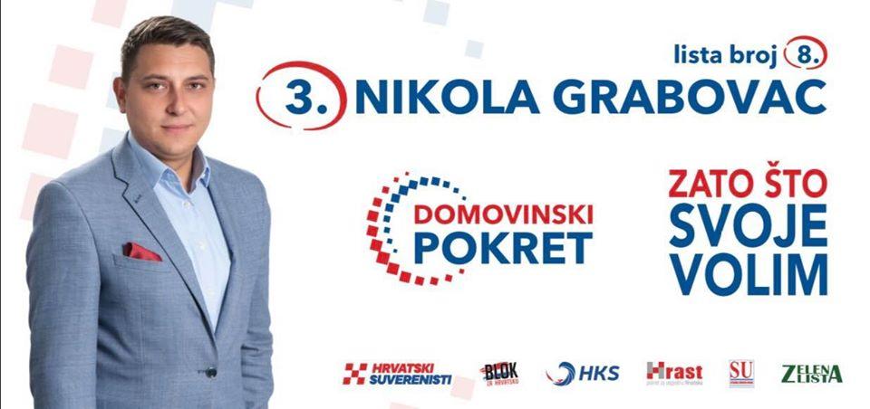 """Nikola Grabovac s liste Domovinskog pokreta: """"Potrebno je mnoge stvari promijeniti iz temelja."""""""