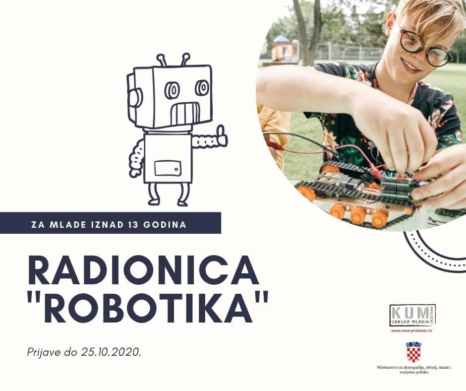 K.U.M. Proložac organizira besplatnu radionicu iz robotike
