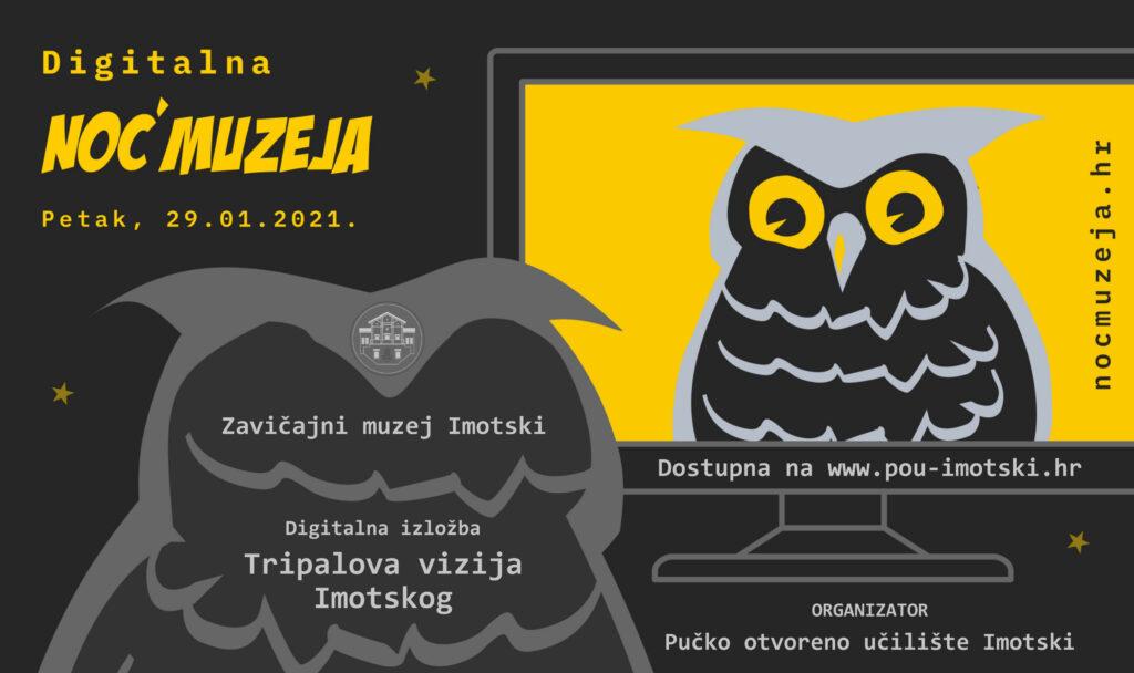 """Noć muzeja: Zavičajni muzej Imotski predstavlja digitalnu verziju izložbe """"Tripalova vizija Imotskog"""""""