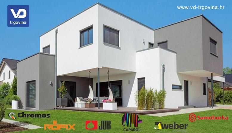 Posebne ponude fasadnih sustava u VD-trgovini