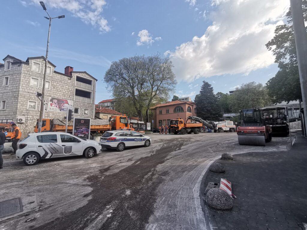 Sanacije ceste na Trgu dr. Franje Tuđmana
