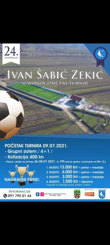 """24. Memorijalni malonogometni turnir """"Ivan Šabić Zekić"""""""