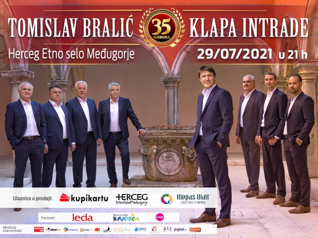 Tomislav Bralić i klapa Intrade 29.7. nastupaju u Herceg Etno selu kraj Međugorja