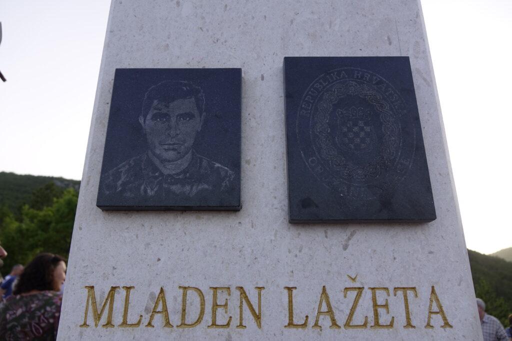 Otkriveno spomen obilježje časniku Hrvatske vojske Mladenu Lažeti