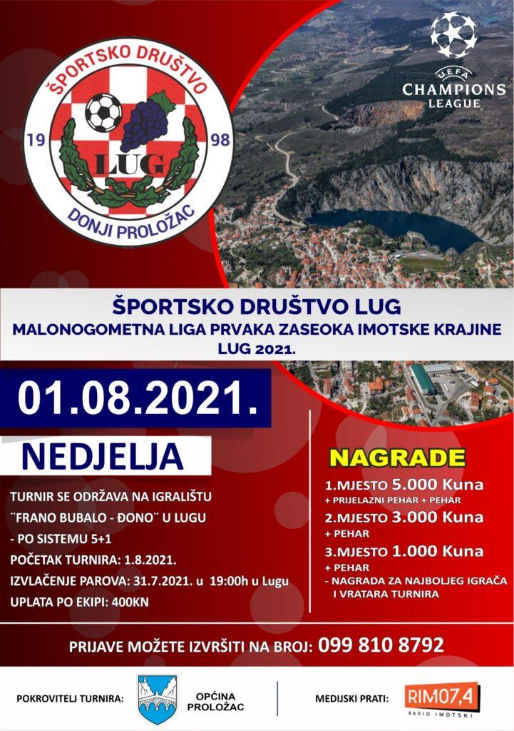 Malonogometna liga prvaka zaseoka Imotske krajine Lug 2021.