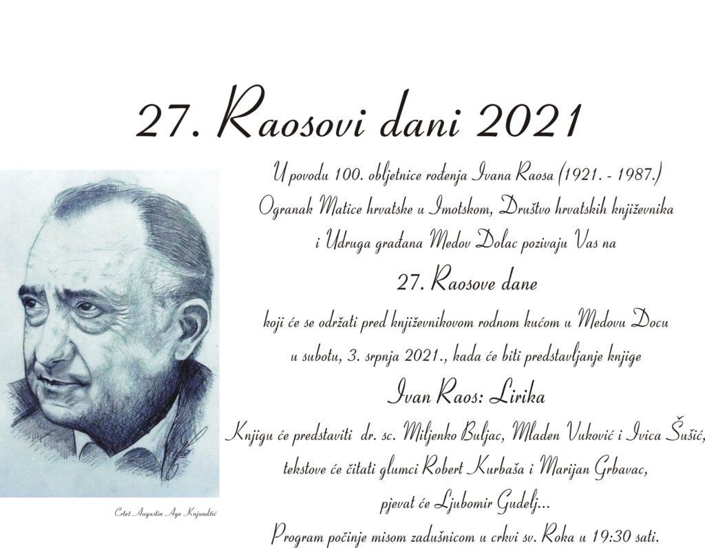 27. Raosovi dani 2021. godine
