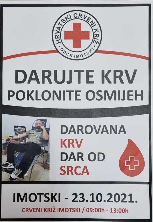 U subotu velika akcija darivanja krvi u Imotskom